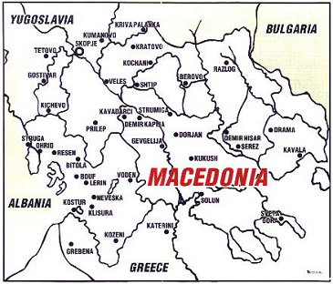 chrono map FYROM and Greece: Preconditions for an agreement of lasting peace and good neighborly relations.