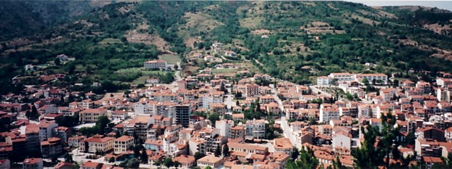 The city of Lerin - View from the mountains
