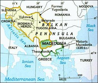 National Geographic Map of Macedonia