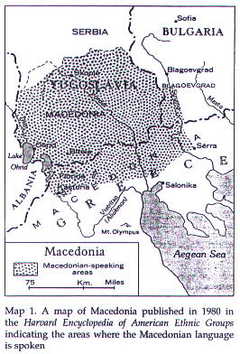 Macedonian Speaking Areas in the Balkans